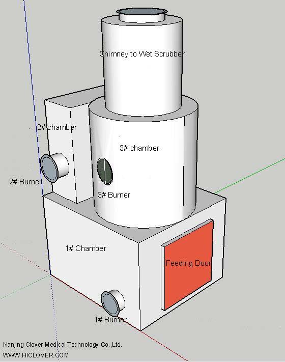 3 Chambers Incinerator