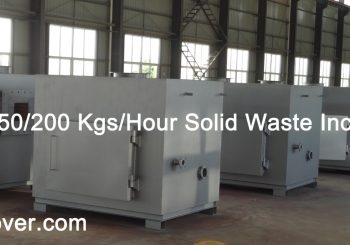 50-100-150-200 Kgs per Hour Solid Waste Incinerator on Sale