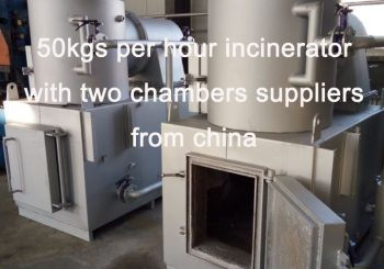 50kgs per hour incinerator with two chambers suppliers from china