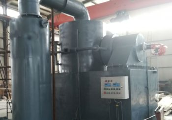 Burning capacity 50kg/hr with wet scrubber with dual fired burner