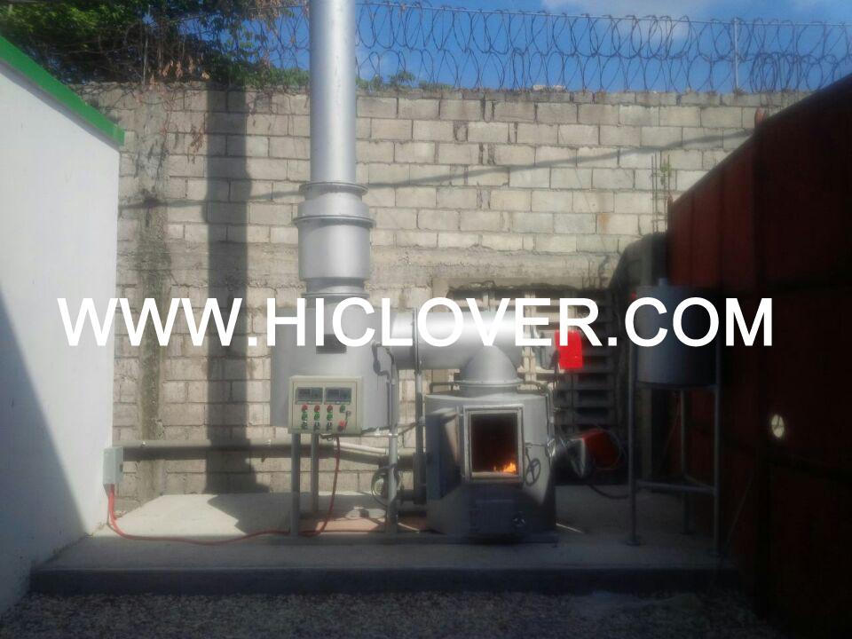 Average 10kgs per hour incinerator for small hospital