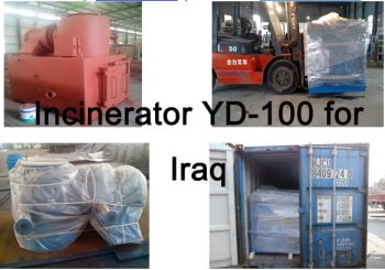 Incinerator YD-100 for Iraq