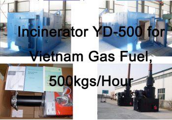 Incinerator YD-500 for Vietnam
