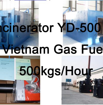 Incinerator YD-500 for Vietnam