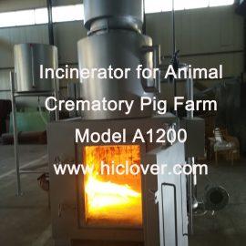 Incinerator for Animal Crematory Pig Farm Model A1200