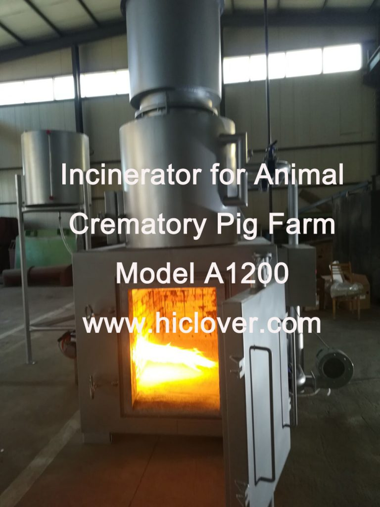 Incinerator for Animal Crematory Pig Farm Model A1200
