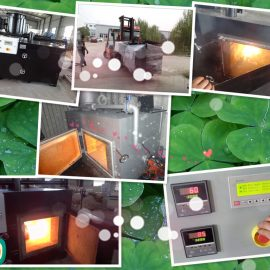 Model TS30 oil fired waste small incinerator 30kgs