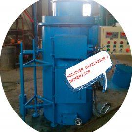 hiclover 10kgs per hour incinerator
