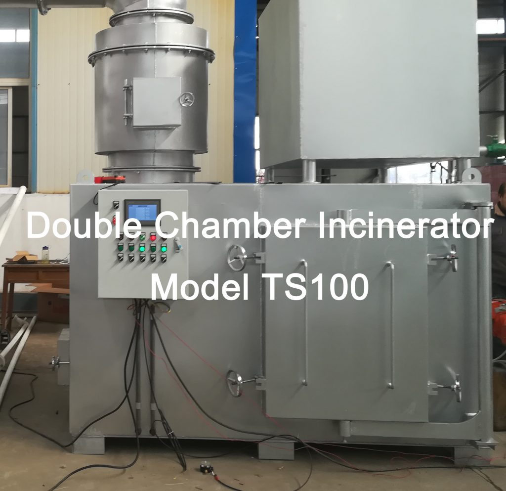 Medium Size:Burning Rate:60-80 kg/hr Pyrolytic Double Chamber Incinerator