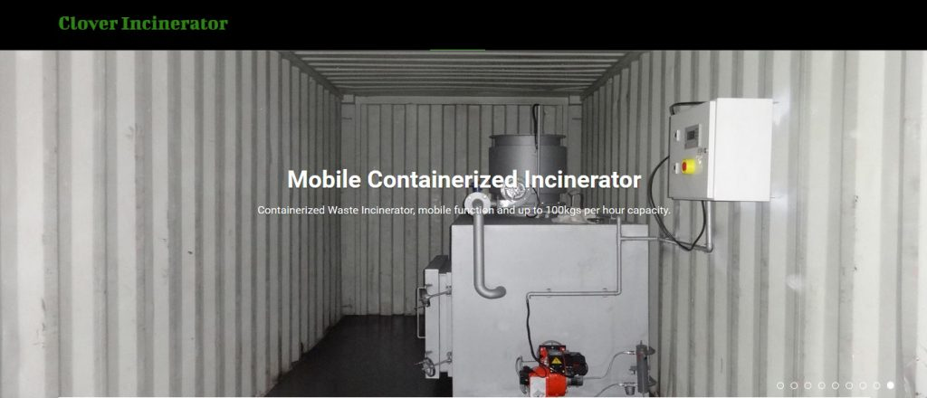 Containerized Mobile Incinerator Pre-assembled, containerized type