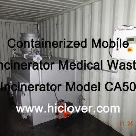 Containerized Mobile Incinerator Medical Waste Incinerator Model CA50