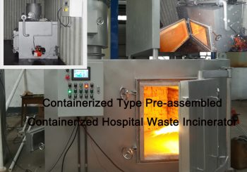 Containerized Type Pre-Assembled Mobile Hospital Waste Incinerator Model CA100