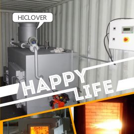 Large Size Burning Rate:150-200 kg/hr Solid Waste Equipment Primary and Secondary Combustion Chamber Incinerator