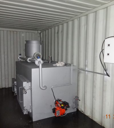 Pyrolytic Double Chamber Incinerator Small Size:Burning Rate:30-45 kg/hr;Maximum Load Capacity:400 kg
