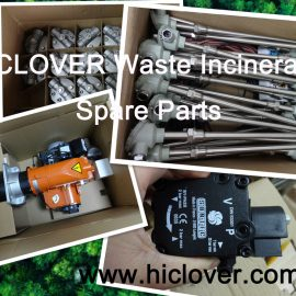 hiclover waste incinerator spare parts