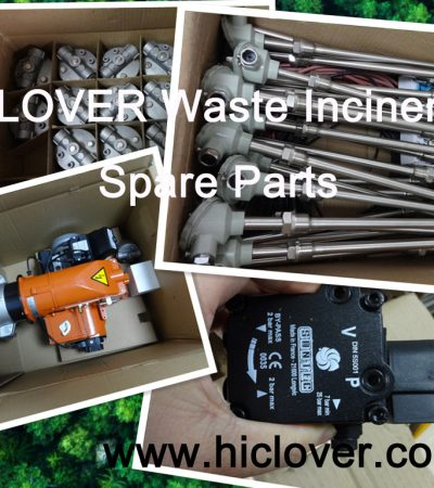hiclover waste incinerator spare parts