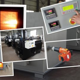 30kgs rate 60kgs feed oil and gas burner small waste incinerator