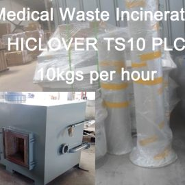 Medical Waste Incinerator HICLOVER TS10 PLC 10kgs per hour