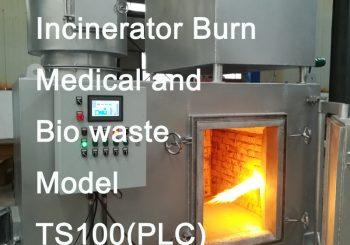 Incinerator burn medical and bio waste