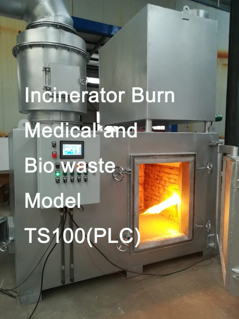 Incinerator burn medical and bio waste