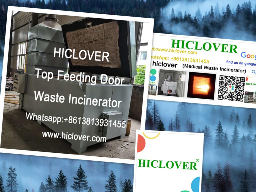 Top Feeding Door Solid Waste Incinerators HICLOVER