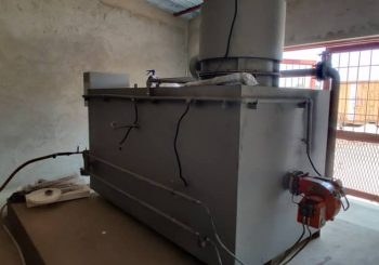 General waste incinerator, dual chamber (primary & secondary)