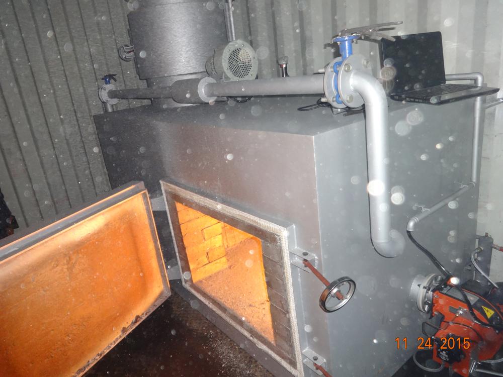 Diesel Fired Waste Incinerator