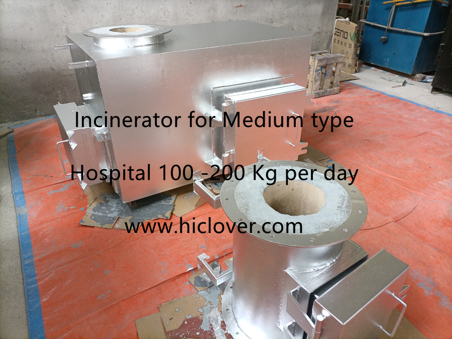 Incinerator for Medium type Hospital 100 -200 Kg per day