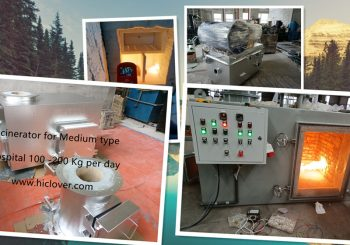 Small scale incinerator for hospital 5kgs 10kgs 20kgs and 30kgs per hour average